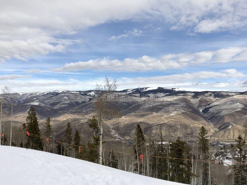 Droge Bergketen over Colorado stock afbeeldingen