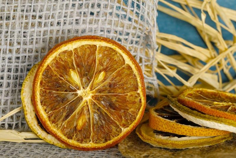 Droge citrusvruchtenplakken royalty-vrije stock foto's