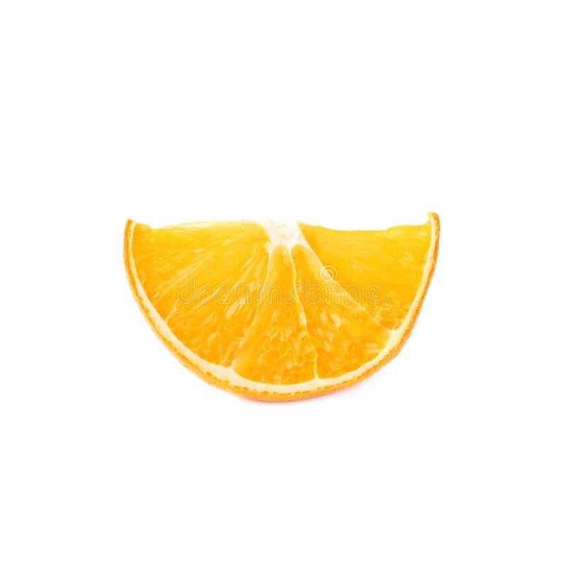 Droge die plaksectie van sinaasappel over wordt geïsoleerd royalty-vrije stock foto