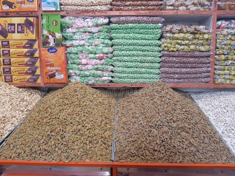 Droge fruitwinkel in Quetta, Pakistan stock fotografie