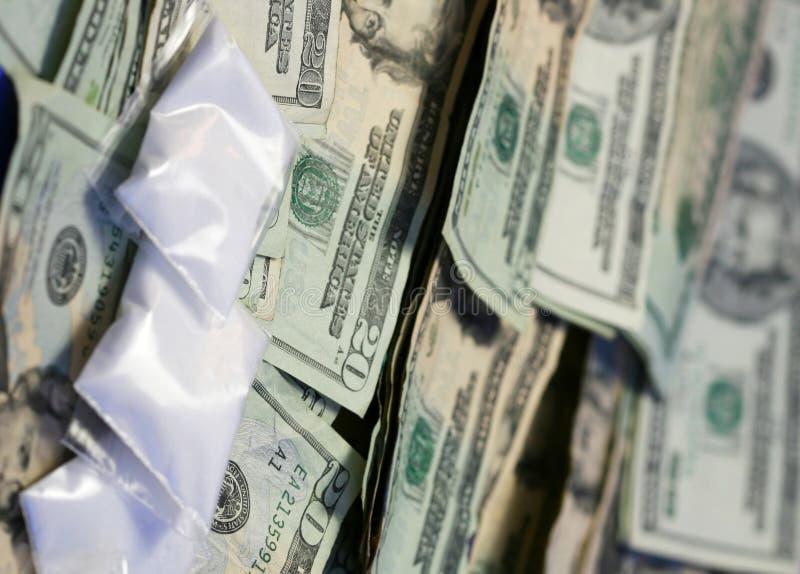 Droge-Geld stockfotografie