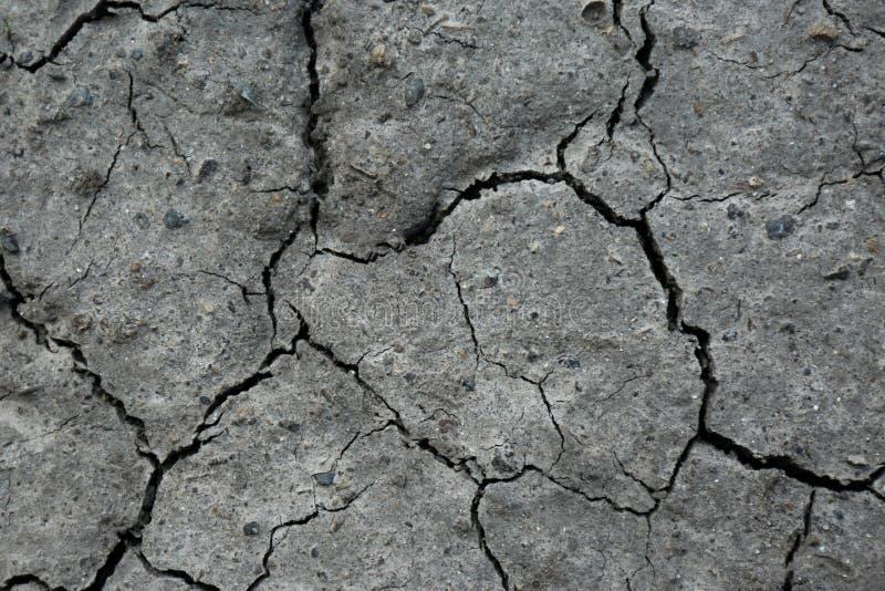 Droge geweven grondoppervlakte als achtergrond Dorstige grond stock fotografie