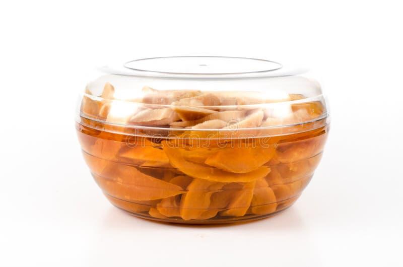 Droge groenten in het zuur santols stock fotografie