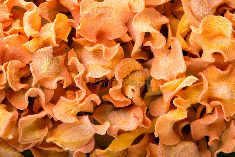 Droge het Voedselachtergrond van het wortelenclose-up royalty-vrije stock afbeeldingen