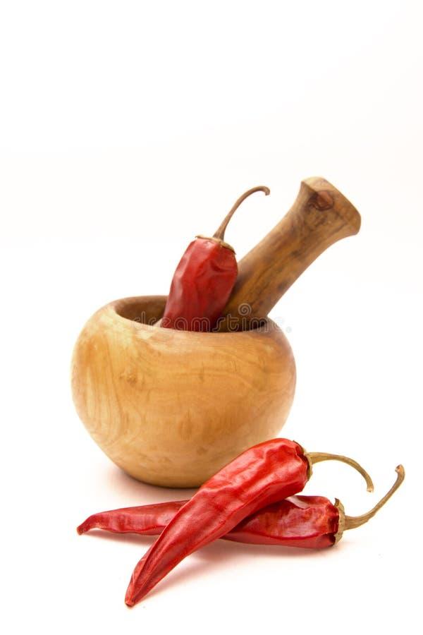 Droge hete peper stock afbeeldingen