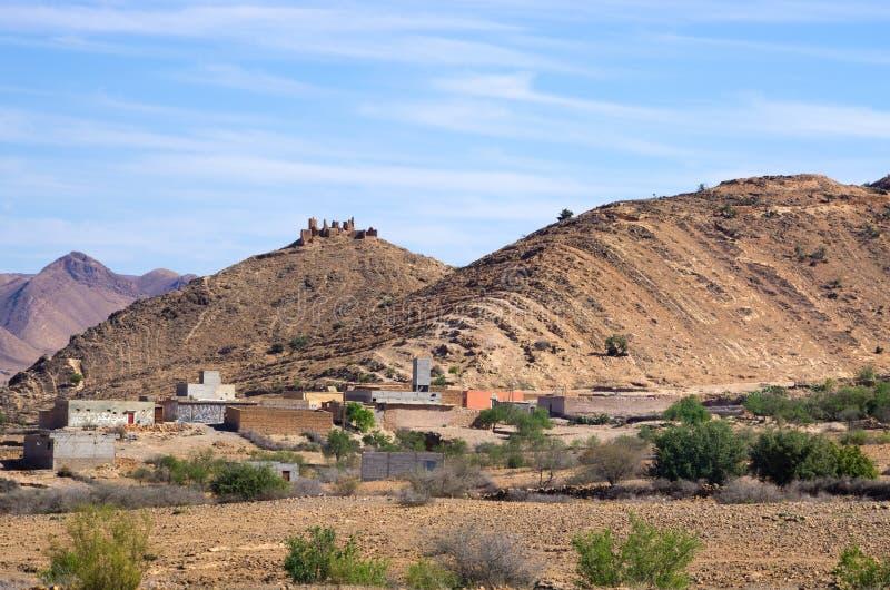 Droge heuvels van Marokko royalty-vrije stock foto