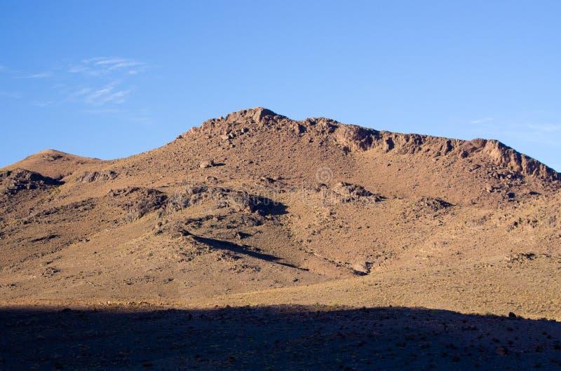 Droge heuvels van Marokko royalty-vrije stock afbeelding