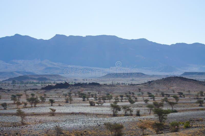 Droge heuvels van Marokko stock afbeelding