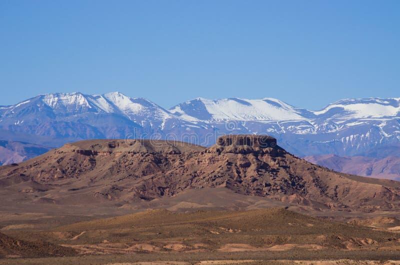 Droge heuvels van Marokko royalty-vrije stock fotografie