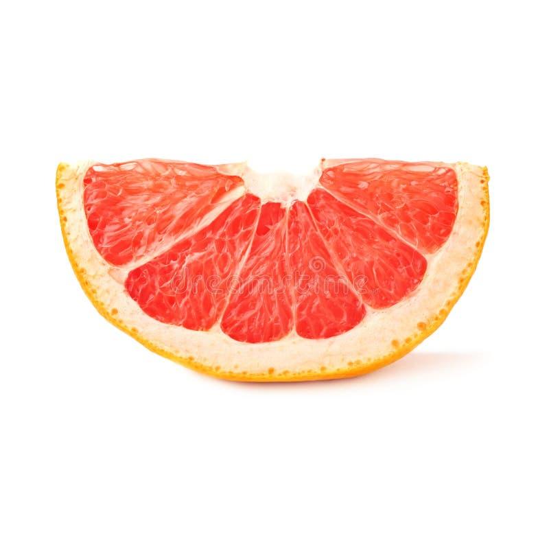 Droge kleine die plaksectie van grapefruit over de witte achtergrond wordt geïsoleerd royalty-vrije stock foto