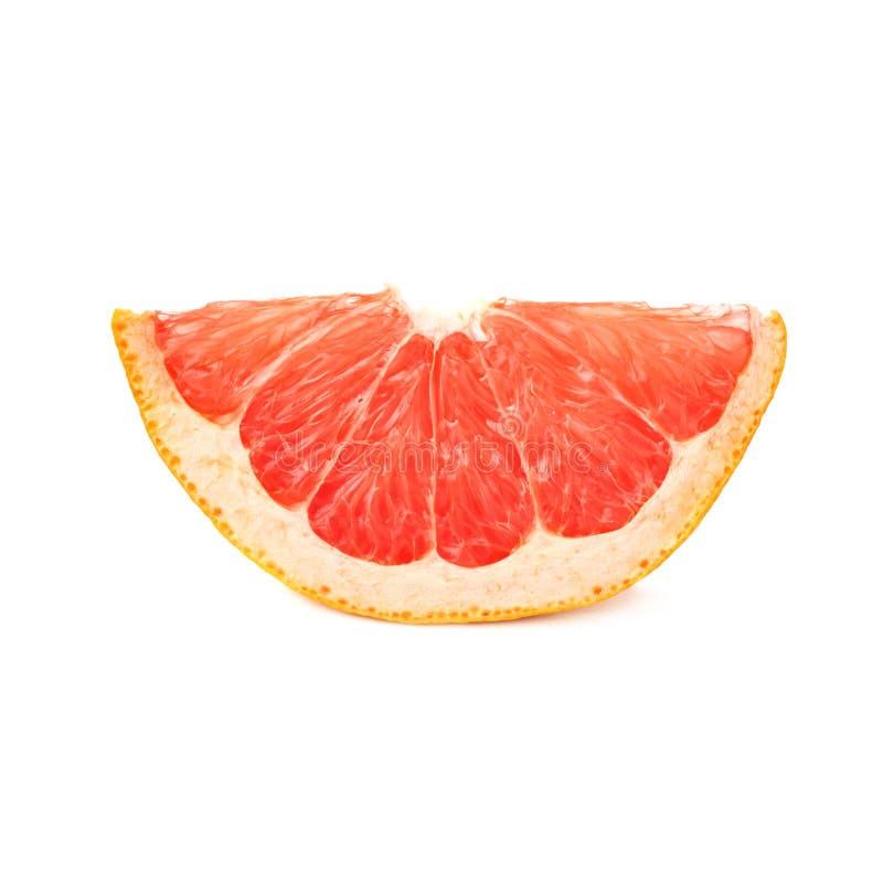 Droge kleine geïsoleerde plaksectie van grapefruit stock foto's
