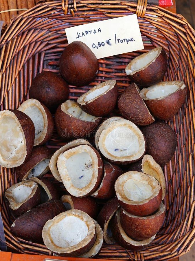 Droge Kokosnoten, Griekenland stock afbeelding