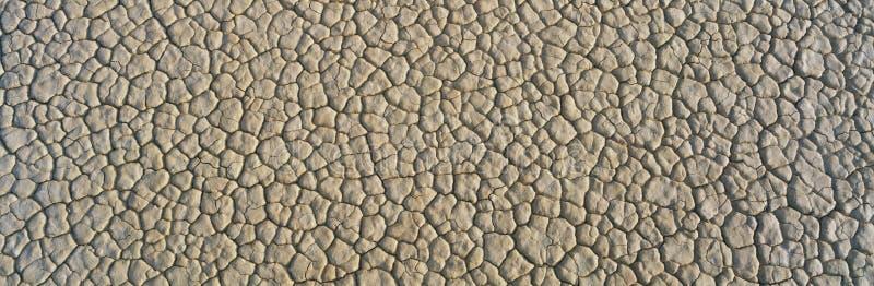 Droge modder in het Nationale Park van de Vallei van de Dood stock afbeelding