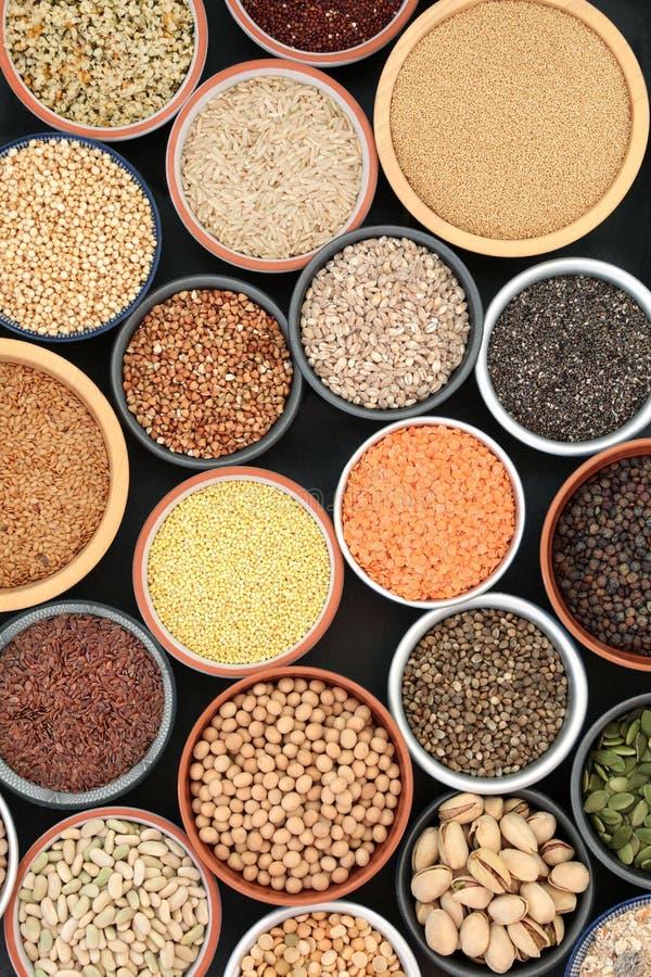 Droge Natuurlijke voeding voor Lichaamsbouwers royalty-vrije stock foto's