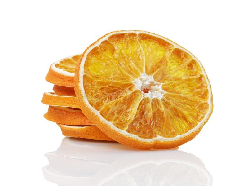 Droge Oranje Plakken stock foto's