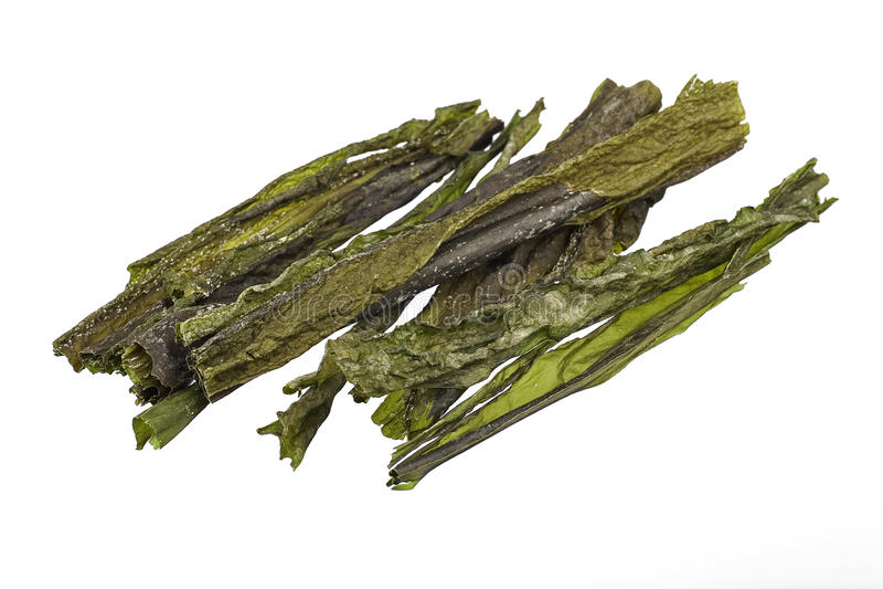 Droge overzeese kelp royalty-vrije stock foto
