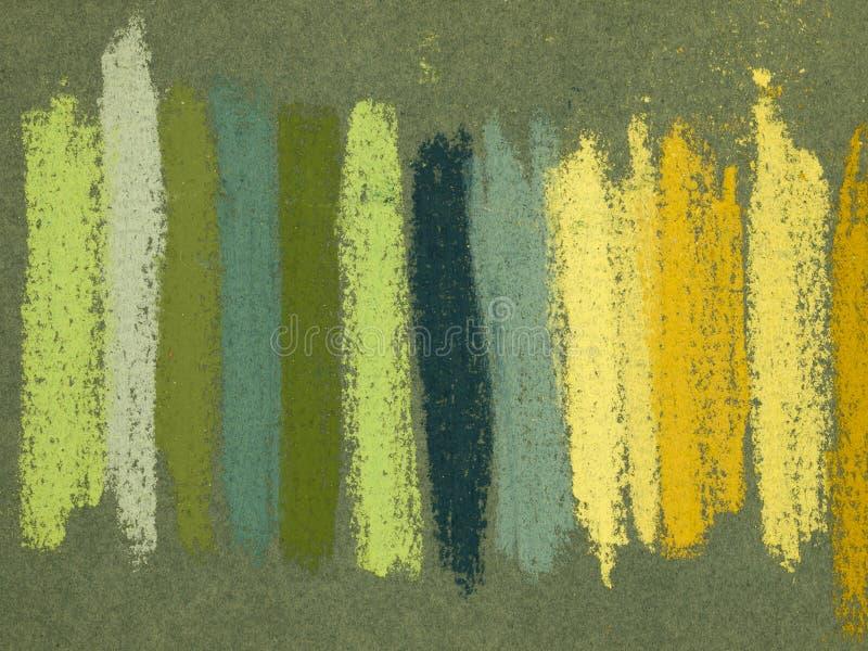 Droge pastelkleurensporen stock afbeelding