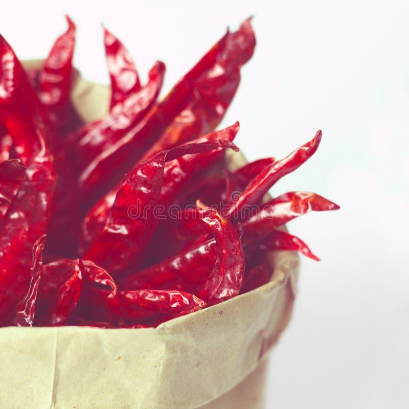 Droge Spaanse pepers stock afbeeldingen