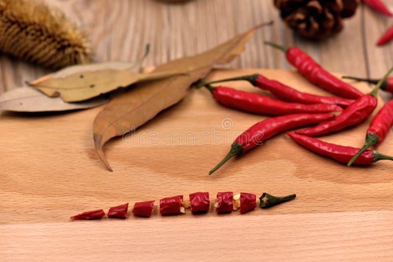Droge Spaanse peperspeper stock fotografie