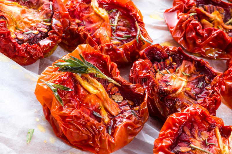 Droge tomaten royalty-vrije stock afbeeldingen