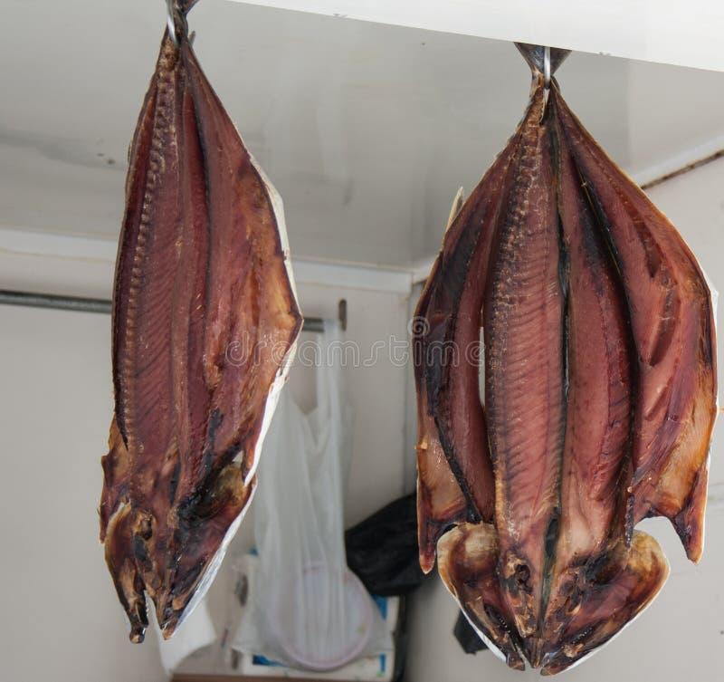 Droge vissen in markt royalty-vrije stock foto