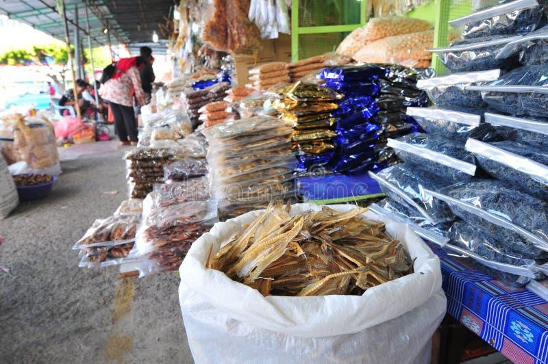 Droge Vissenmarkt stock fotografie