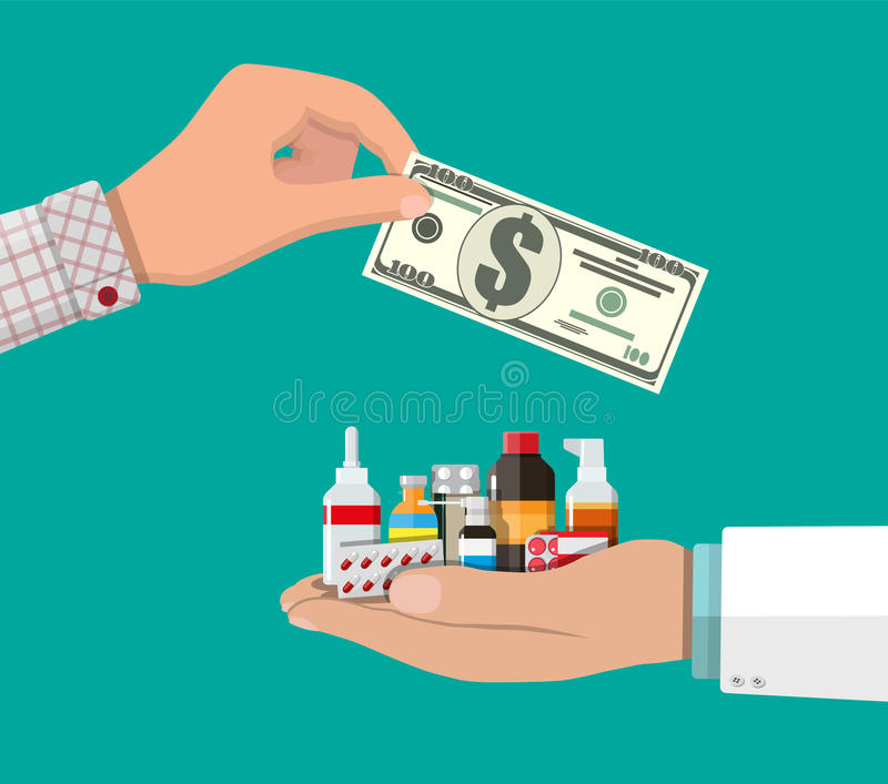 Drogen kaufen und verkaufend vektor abbildung