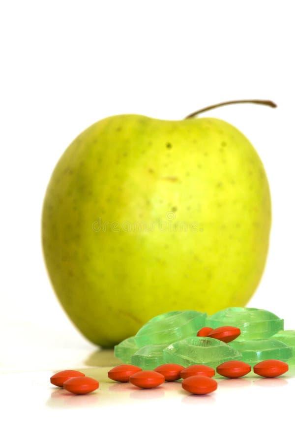 Drogen Oder Gesunde Nahrung Stockfotografie