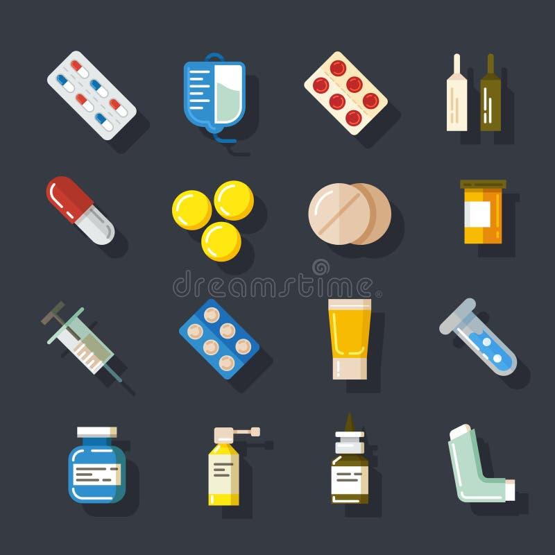 Drogen oder Medizin Pillen, Kapseln, Mischung vektor abbildung