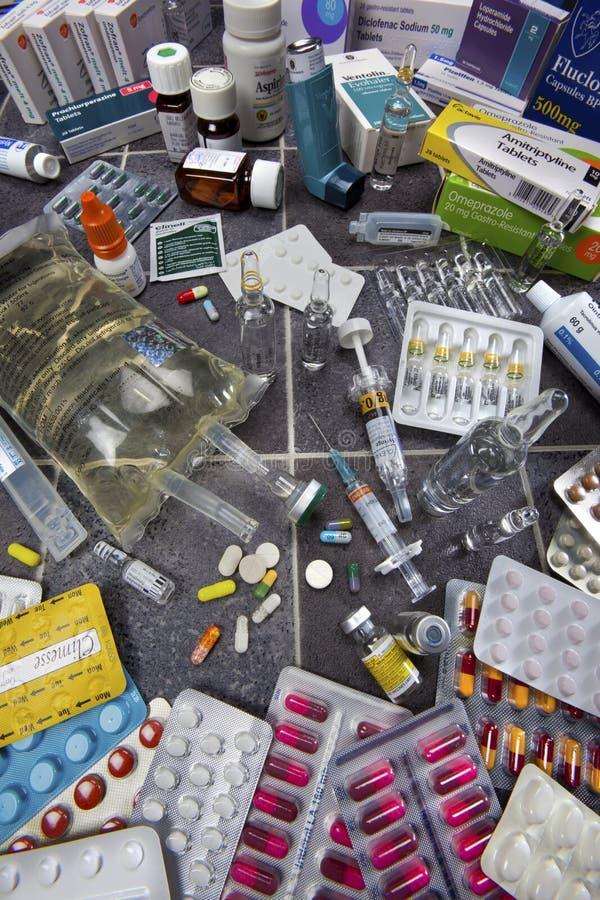 Drogen - Pillen - Medizin stockfoto