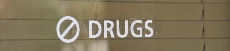 Drogen und illegale Substanzen verboten stockfotografie