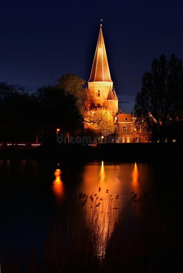 Drogenapstoren por noche en Zutphen Holanda imagen de archivo libre de regalías
