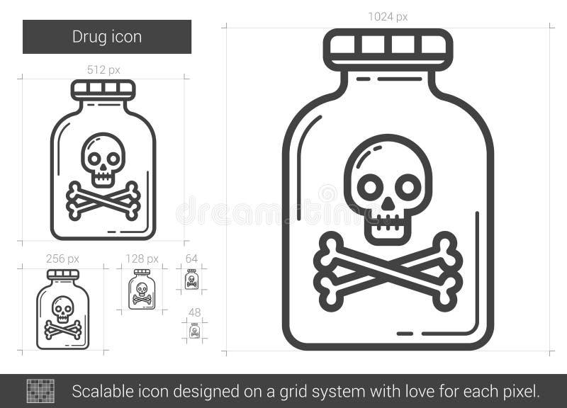 Drogenlinie Ikone stock abbildung