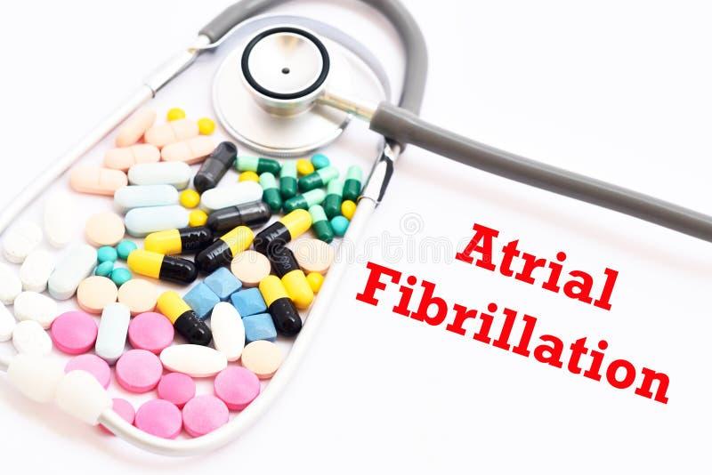 Droger för sjukdombehandling för atrial fibrillation arkivbilder
