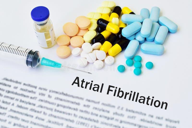 Droger för sjukdombehandling för atrial fibrillation royaltyfri fotografi