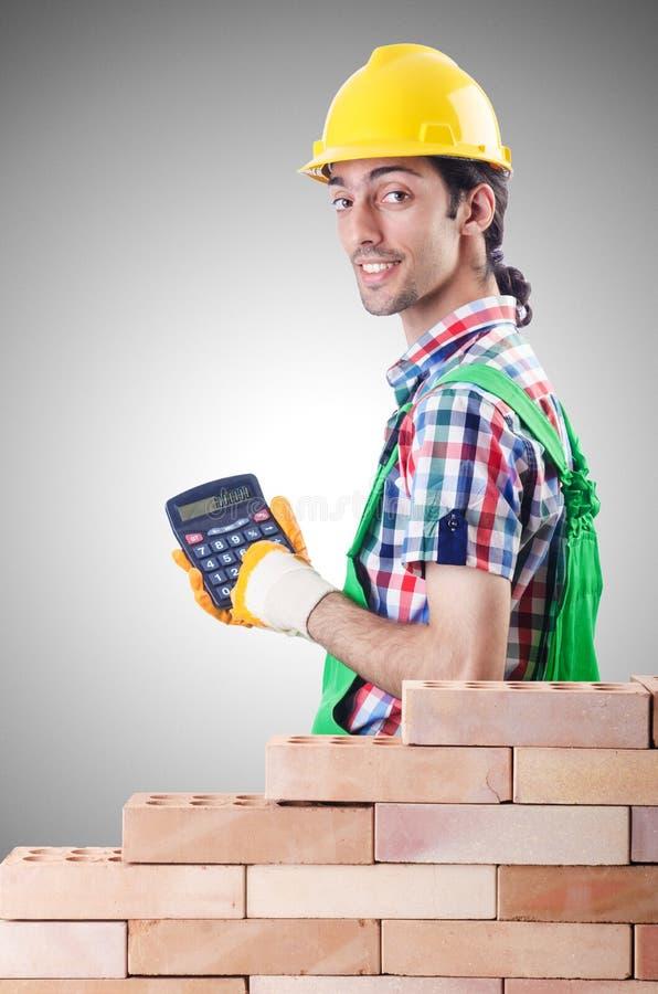 Drogi budowy pojęcie z budowniczym i obraz stock
