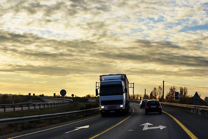 drogi ciężarówka obraz royalty free