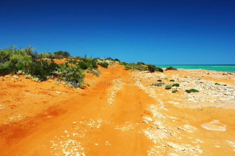 Drogi Gruntowej cewienie przez Francois Peron parka narodowego, Australia obraz stock
