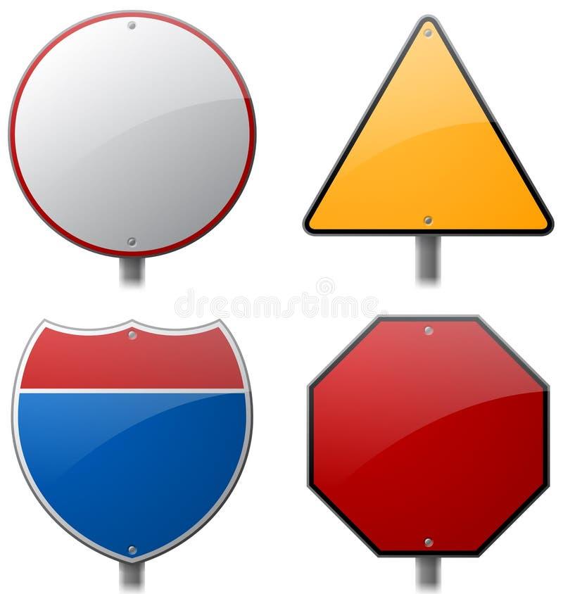 Drogi i autostrady znaki ilustracja wektor