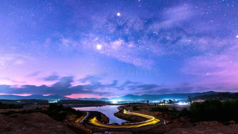 Drogi Mlecznej galaxy z U kształta drogą obrazy stock