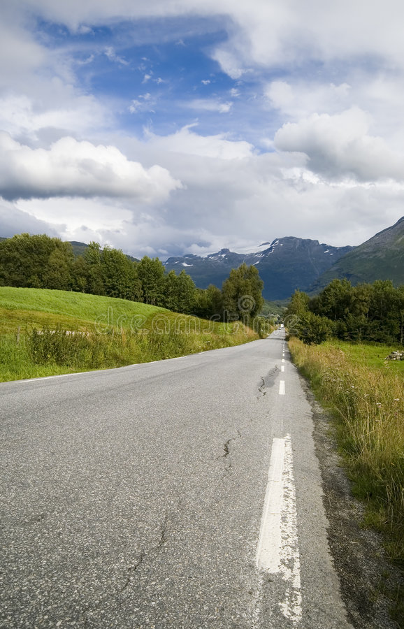 drogi norweskie fotografia stock