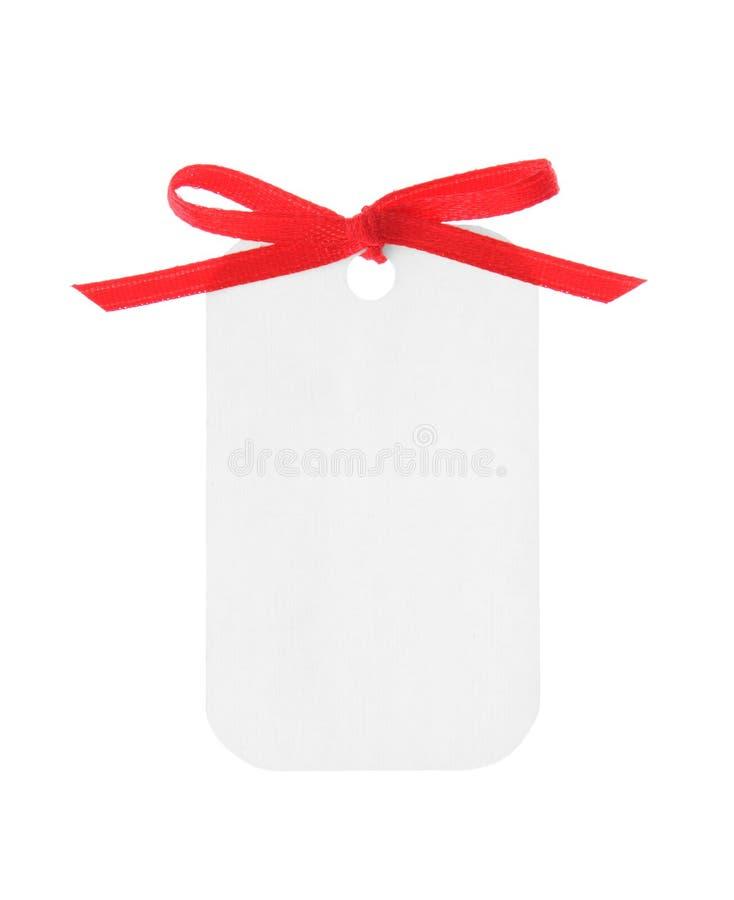 drogi prezent wycinek zawierać czerwony tasiemkowy white obrazy stock