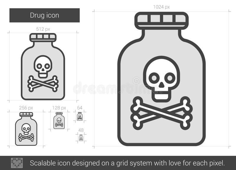 Droglinje symbol stock illustrationer