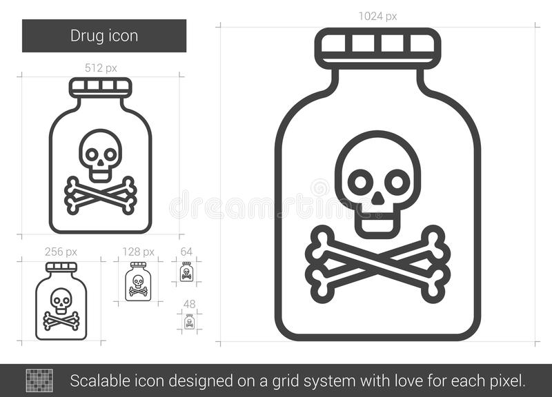 Droglinje symbol vektor illustrationer