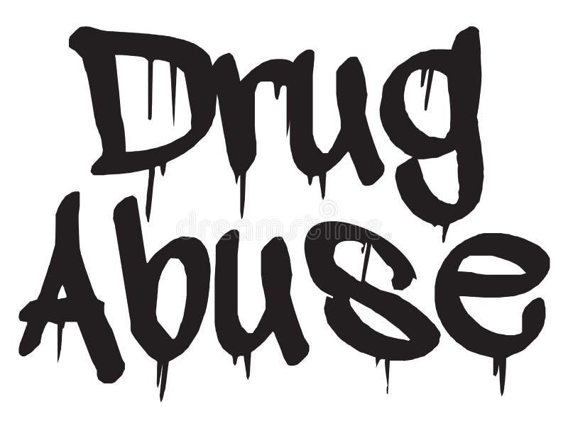 Drogmissbrukstämpeltyp stock illustrationer