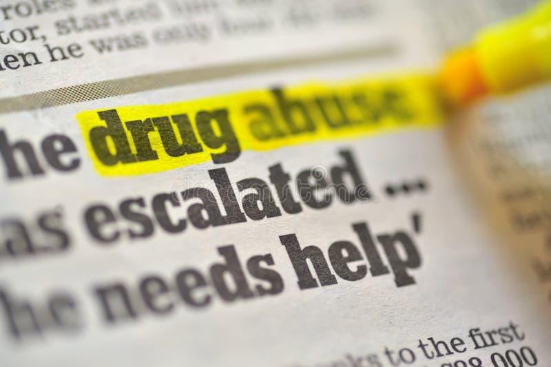 Drogmissbrukteckning royaltyfria bilder