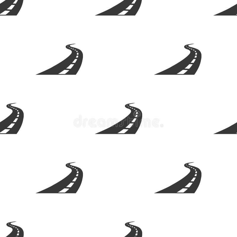 Drogowa ikona w czerń stylu odizolowywającym na białym tle Logistycznie wzoru zapasu wektoru ilustracja ilustracja wektor