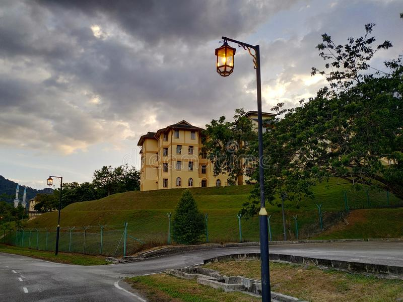 Drogowa lampa obrazy royalty free