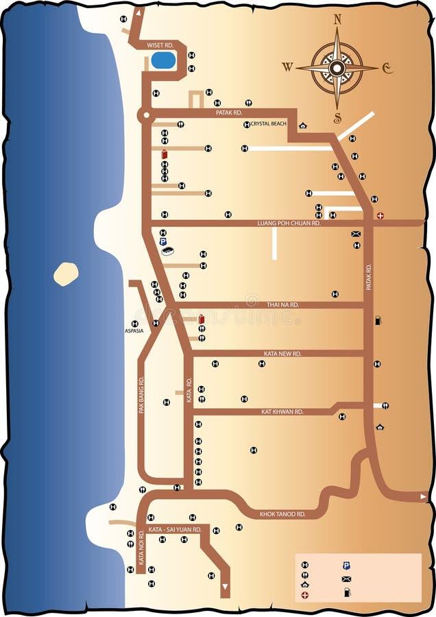 Drogowa mapa Phuket ilustracji
