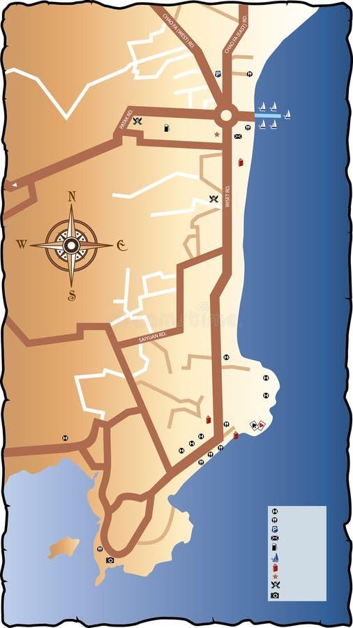 Drogowa mapa Phuket royalty ilustracja